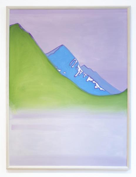 Hubert Schmalix Grüner Berg Landschaft Arbeit Werk Öl auf Leinwand Smolka Contemporary
