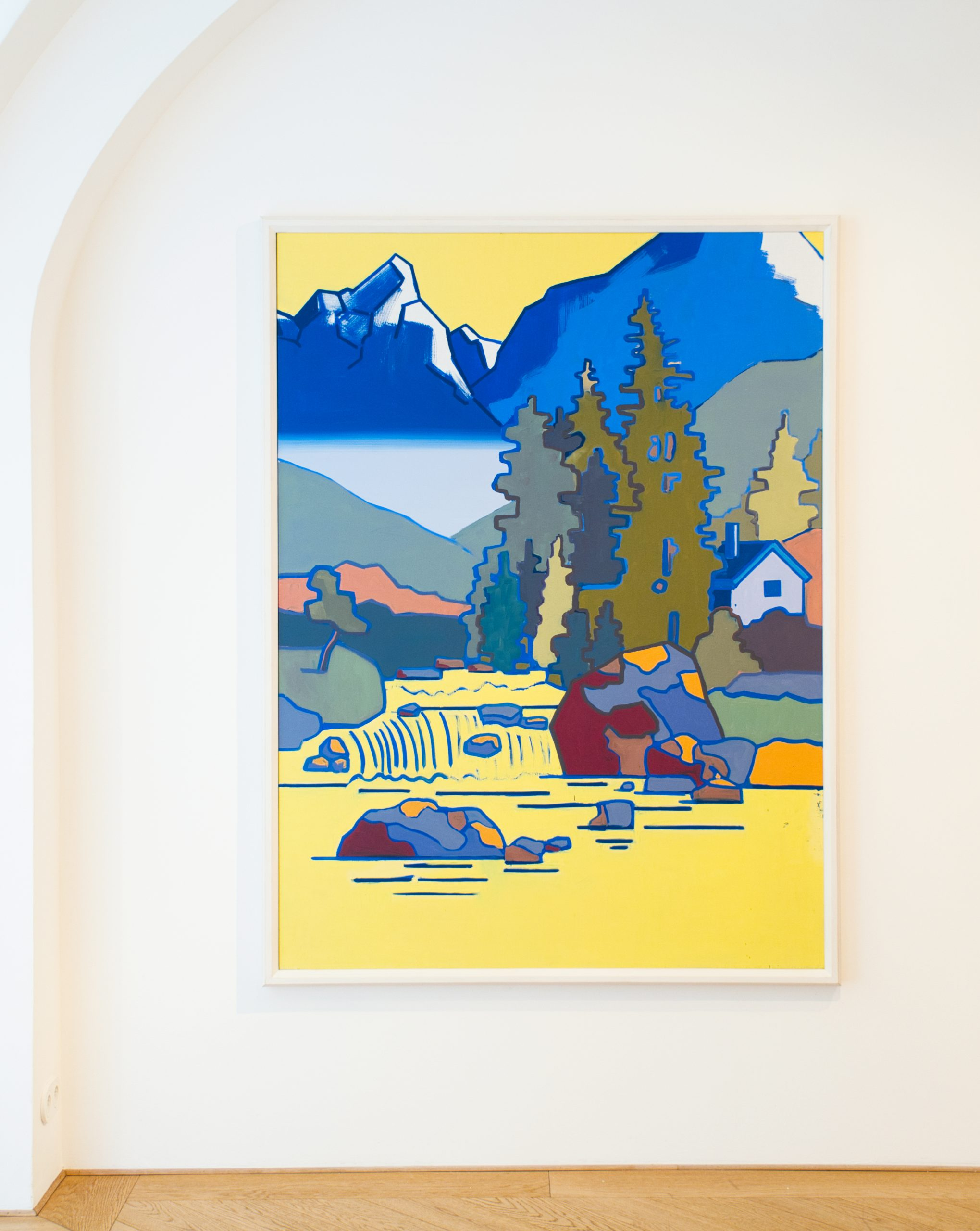 Hubert Schmalix Yellow Smolka Contemporary