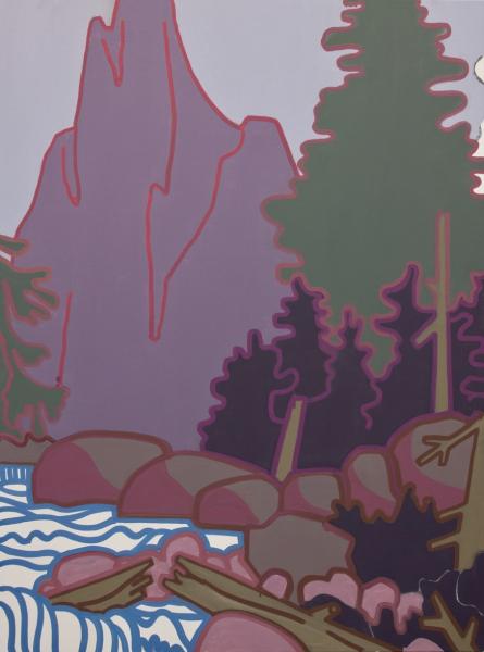 Hubert Landschaft Arbeit Werk Öl auf Leinwand Smolka Contemporary