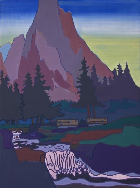 Hubert Schmalix Landschaft Arbeit Werk Öl auf Leinwand Smolka Contemporary