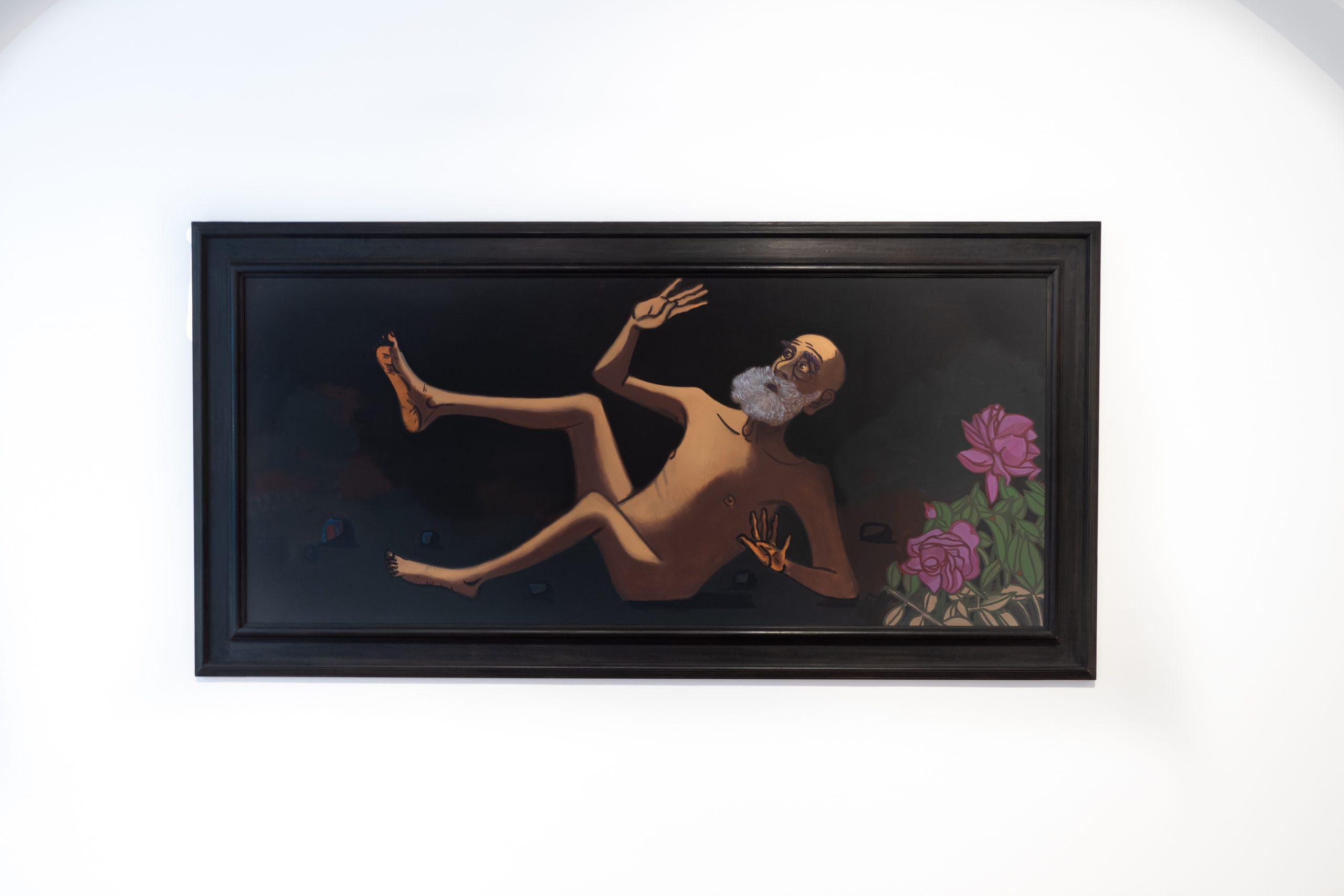 Hubert Schmalix Steve Oil on Canvas Painting Figurative Smolka Contemporary