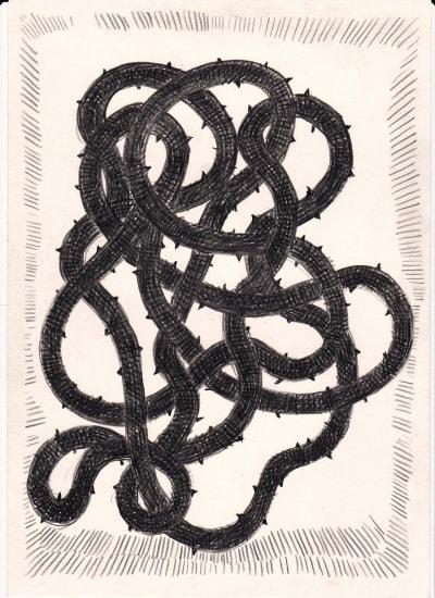 Götterdämmerung, 29x24, Aquarell auf Papier, 2018