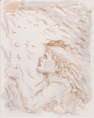 Rheingold, 29x24, Aquarell auf Papier, 2018