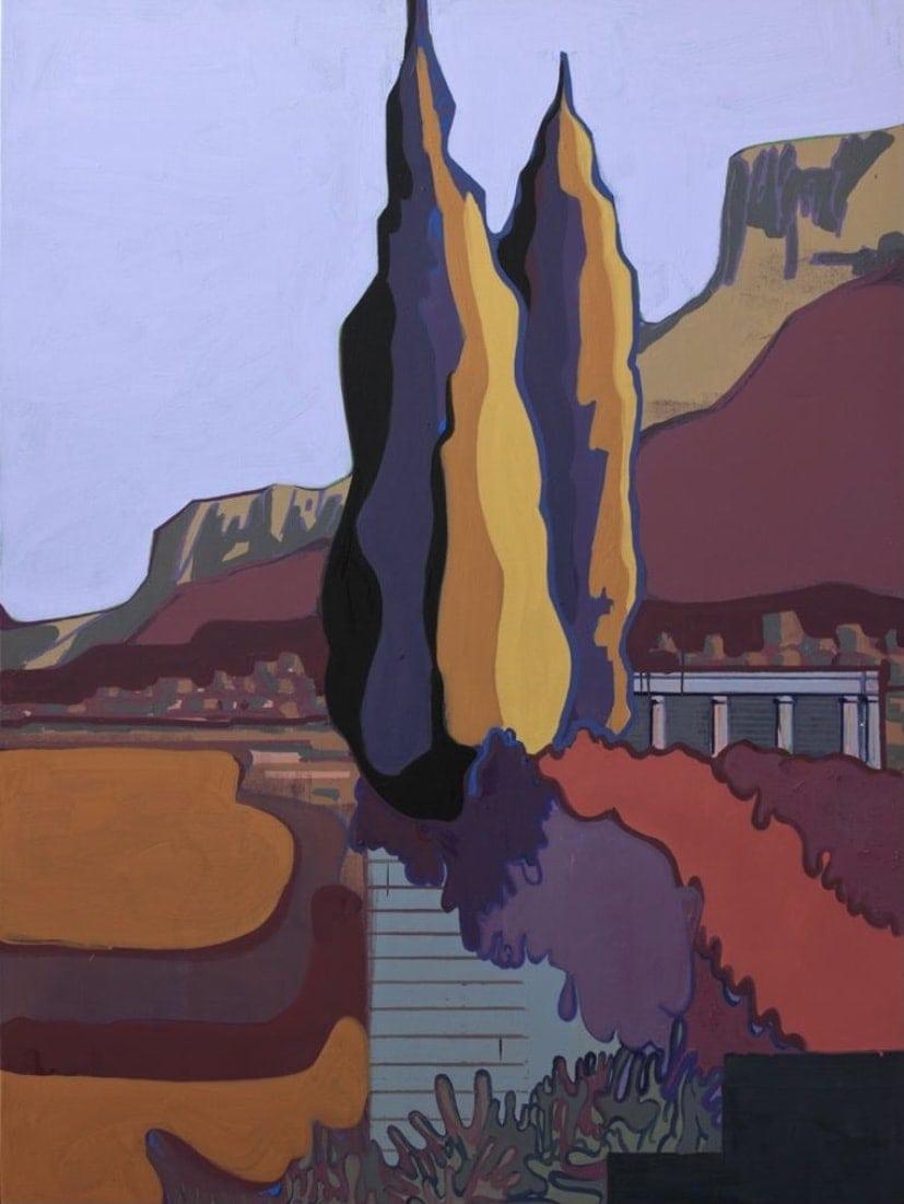 Hubert Schmalix Landschaft Landscape Smolka Contemporary