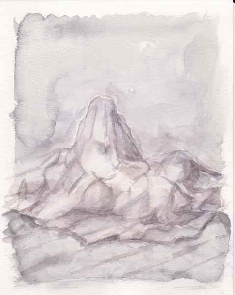 Walküre, 29x24, Aquarell auf Papier, 2018